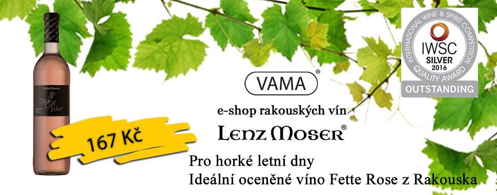 Pro horké letní dny - ideální oceněné víno Fette Rose z Rakouska
