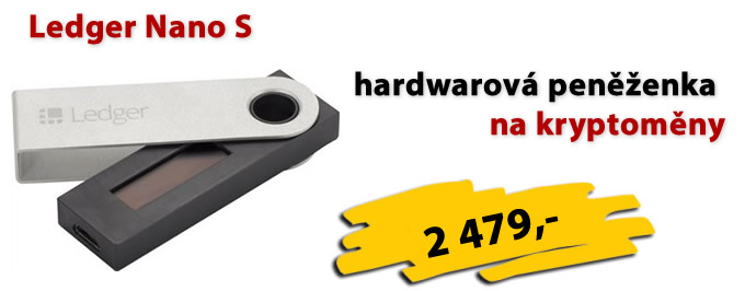 Ledger Nano S  - hardwarová peněženka na kryptoměny