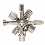 Křížový klíč na rozvodné skříně 10 dílů - univerzální