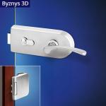 Zámečnictví - klíče : Kování na skleněné dveře Jana OV3 D Fab