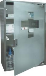 Zámečnictví - klíče : Lékárnička BTV 450 sklo-nerez