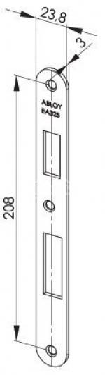 Zámečnictví - klíče : Protiplech EA325 pro samozamykací zámky ABLOY univerzální