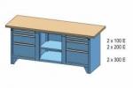 Dílenský stůl PS 2-1