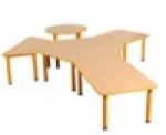 Předškolní stůl Domino lichoběžníkový ,stavitelný  JTM