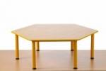 Předškolní stůl Domino šestihraný , stavitelný  JTM