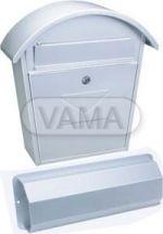 Poštovní schránka Aosta set  -stříbrná