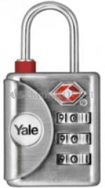 Cestovní visací zámek Yale YTP1/32/119/1 TSA červený diamant