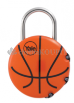 Visací zámek Yale - basketbalový míč