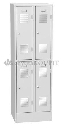 Šatní skříň kovová SHS 32A - čtyřdveřová
