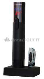 Elektrická vývrtka-otvírák na víno LCD s teploměrem
