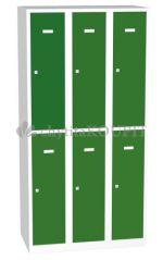 Šatní skříňka s dělenými dveřmi A8332