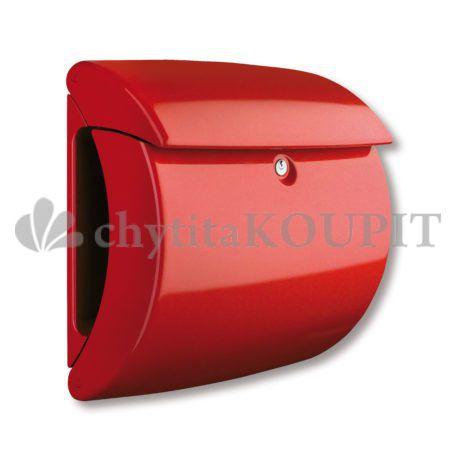 Poštovní schránka Burg Piano Pearl luxusní červená