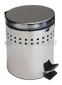 Odpadkový koš nášlapný BTV nerezový 5 L