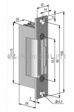 Zámek BEFO 32421 elektrický otvírač reverzní výprodej