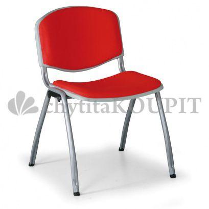 Čalouněná konferenční židle LIVORNO, červená
