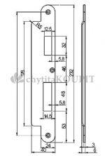 Protiplech EA322 pro samozamykací zámky ABLOY univerzální
