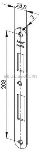 Protiplech EA325 pro samozamykací zámky ABLOY univerzální