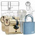 Zámečnictví - klíče : Sada vložek FAB KOMBI 2x FAB100RSD + 1x80RSH